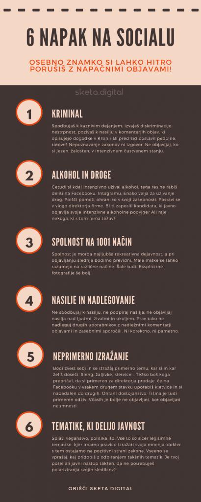 6 napak na socialu