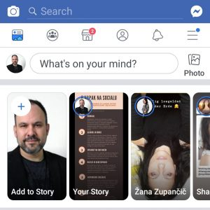 Uporabljaj Facebook Stories