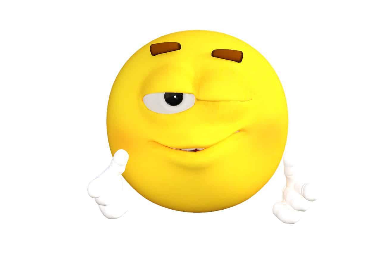 emoticon wink sketa digital
