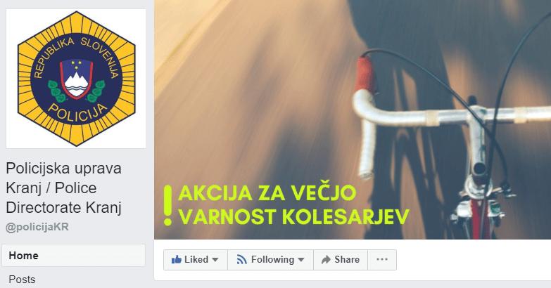 Dobra praksa na FB - policijska uprava Kranj